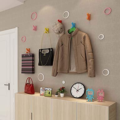 Amazon.com: HOUTBY - Ganchos de pared creativos para pintar ...