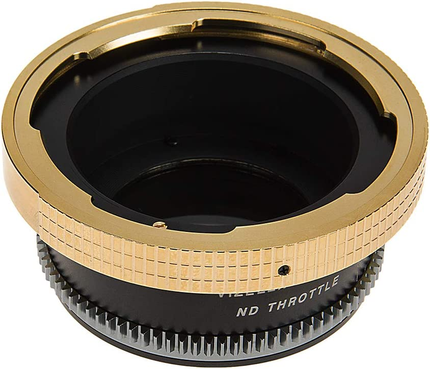 Arri PL MFT, M4//3 Mount Lens to Micro Four Thirds Vizelex ND Throttle Lens Mount Adapter Mount Mirrorless Camera Body with Built-in Variable ND Filter 1 to 8 Stops Positive Lock
