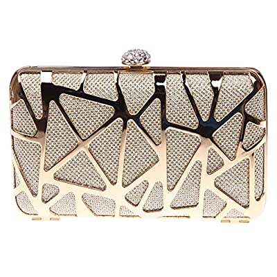 Fawziya Water Cube Metal Clutch Purse Women Evening Clutch Bag