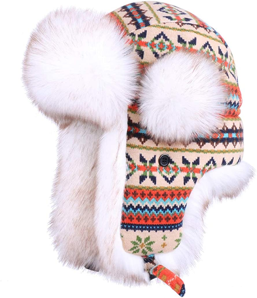 Winter Bomber Hat Russian...