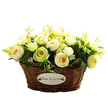 Amazon Hyxflower Artificial Fake Flowers Arrangements In Oval