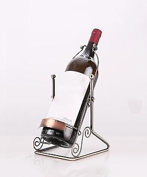 JINGXING Sujetador de la Botella de Vino del Soporte del Estante de la Botella de Vino