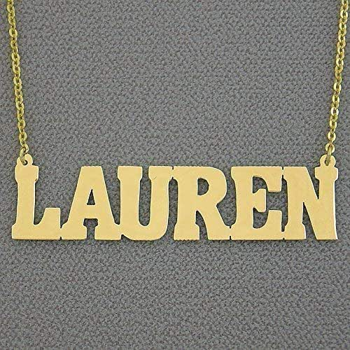 Gold Name Necklace,Nameplate Necklace,Custom Necklace,Personalized Name Necklace,Any Font Necklace,Personalized Jewelry,Name Pendant N182