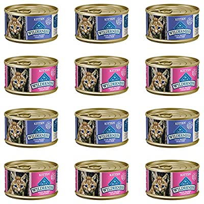 Cat Food Blue Buffalo Wilderness Grain-Free Variety Pack Wet Kitten Food... [tag]