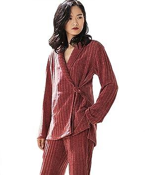 mujer traje corto traje de pijamas señoras 2 piezas estilo vintage suave casual ropa de dormir