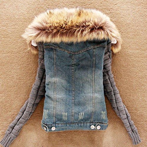 Mujer De Chaquetas Corto Como Jacket Denim Imagen ZhuiKun Mezclilla Jackets Abrigo Invierno de xwpqIdE