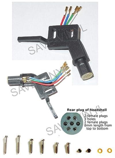 Tocadiscos recto con cable de clip y kit de montaje de cartucho ...