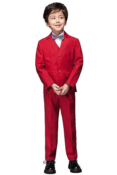 Yuanlu - Traje - para niño rojo rosso 2 años: Amazon.es ...
