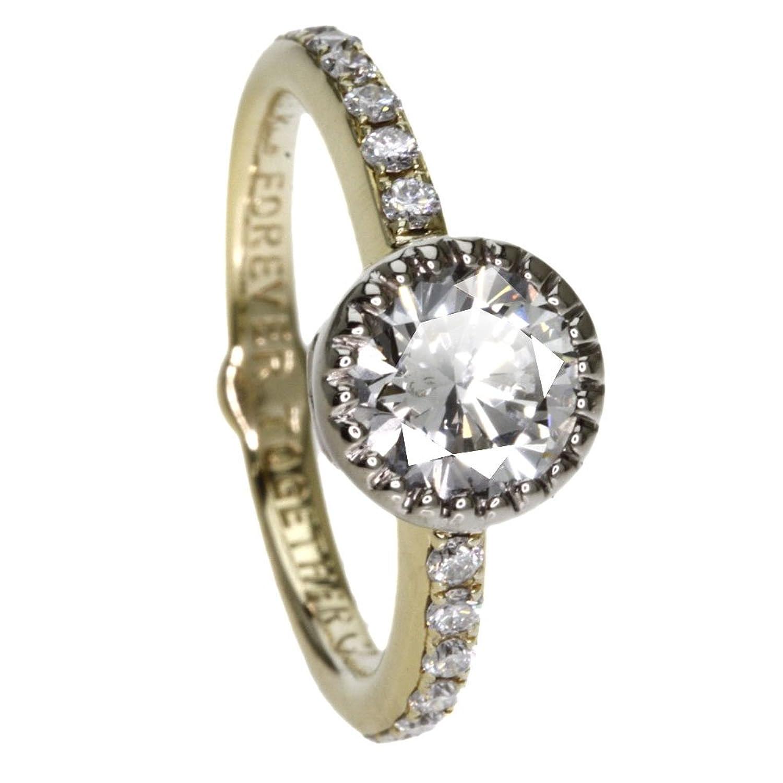 3.7g ダイヤモンド リング指輪 K18イエローゴールド レディース (中古) B0761HXQZ8