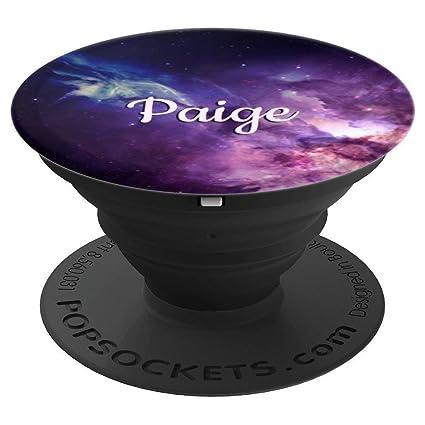 Amazon.com: Paige Pop Socket Galaxy personalizado nombre ...