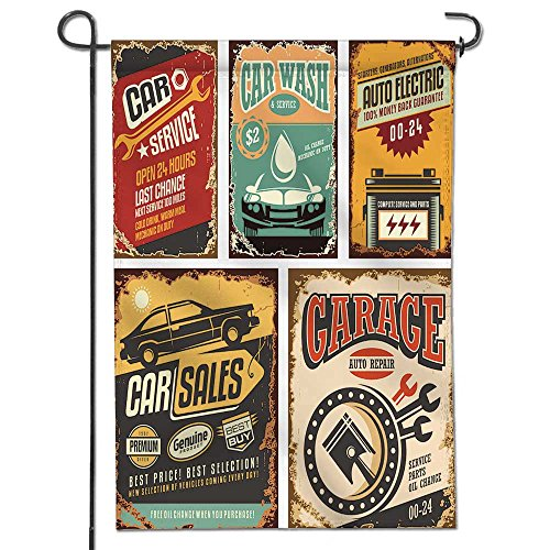 SCOCICI1588 Home Sweet Home Garden Flag Cars ads and banners