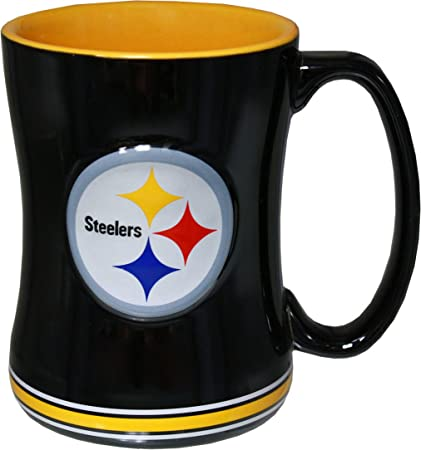 Etonnant Pittsburgh Steelers 14 Ounce Sculpted Logo Relief Coffee Mug