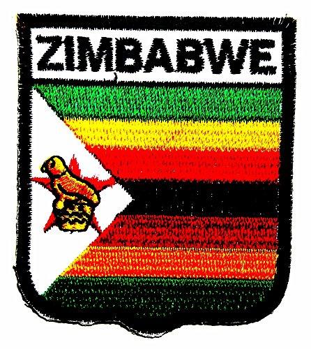 Costume Zimbabwe (Zimbabwe Country Flag Patch Sew Iron on Logo Embroidered Badge Sign Emblem Costume BY)