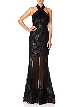 Fishtail Maxi Dress - Black Forever Unique YQIt3JtYLj