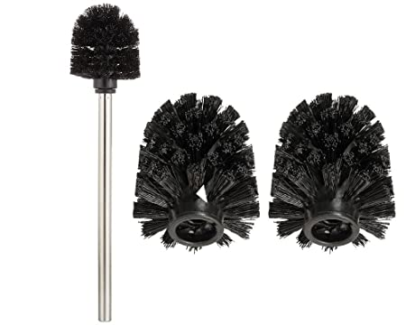 Toilet Brush Head : Wenko replacement brush toilet brush holder with 1 x stainless steel