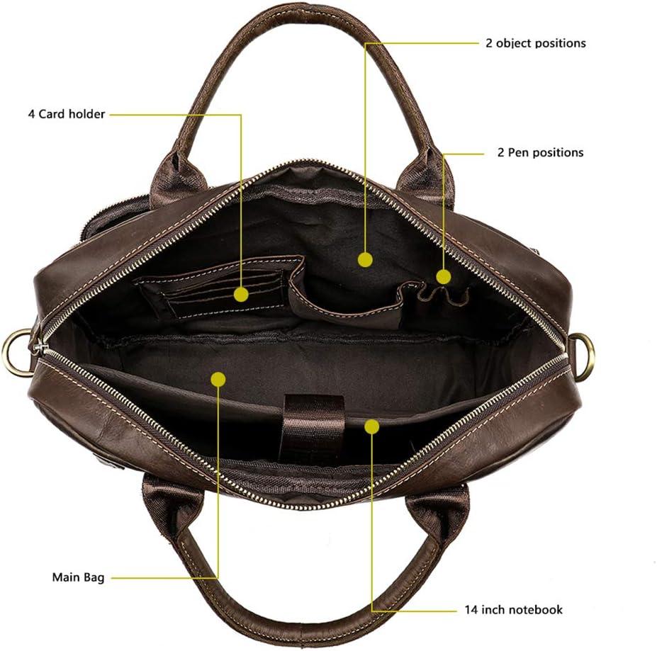 for 15-inch Laptop Mens Briefcase Bag Leather Laptop Bag Office Bags for Men Business Porte Document