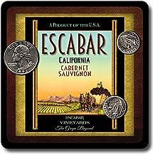 Escabar Family Vineyards Neoprene Rubber Wine Coasters - 4 Pack