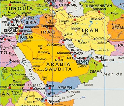 Mapa Político del Mundo sobre Respaldo de corcho, en Español 1:46, 4 Mio.: Amazon.es: Oficina y papelería