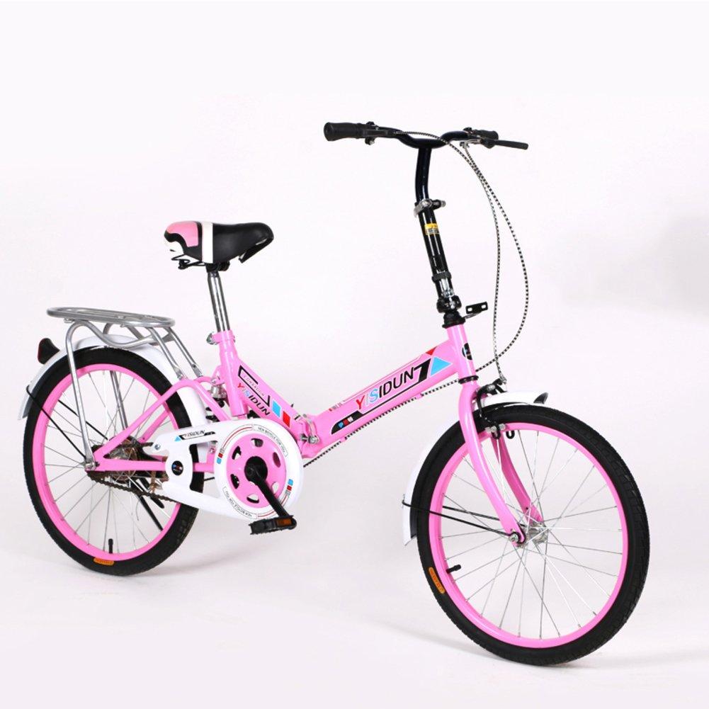 女性 折りたたみ自転車, 大人 折りたたみ自転車 女性自転車 男女 スタイル 学生の車 折りたたみ自転車 B07D2BYJFR 20inch|ピンクA ピンクA 20inch