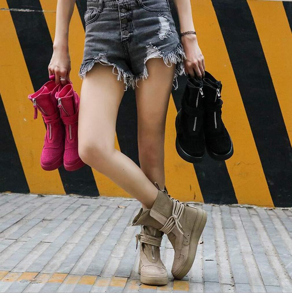 Hy Damenmode Stiefel, Herbst Herbst Herbst Winter Komfort Flache Ritter Stiefel, Damen Slip-Ons Persönlichkeit Stiefelies, Student Casual Schuhe Laufschuhe (Farbe   Sand, Größe   38) 9b71da