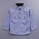 Amberetech Baby Boys Suspender Short Set Denim
