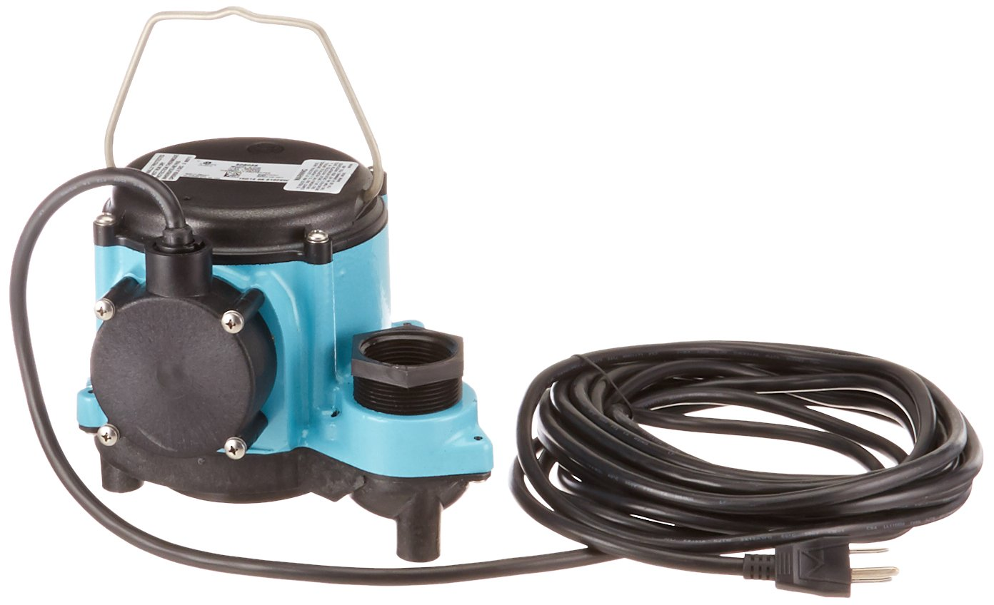 2700 GPH Little Giant 8-CIM 4//10 HP Submersible Sump Pump Blue Standard Plumbing Supply