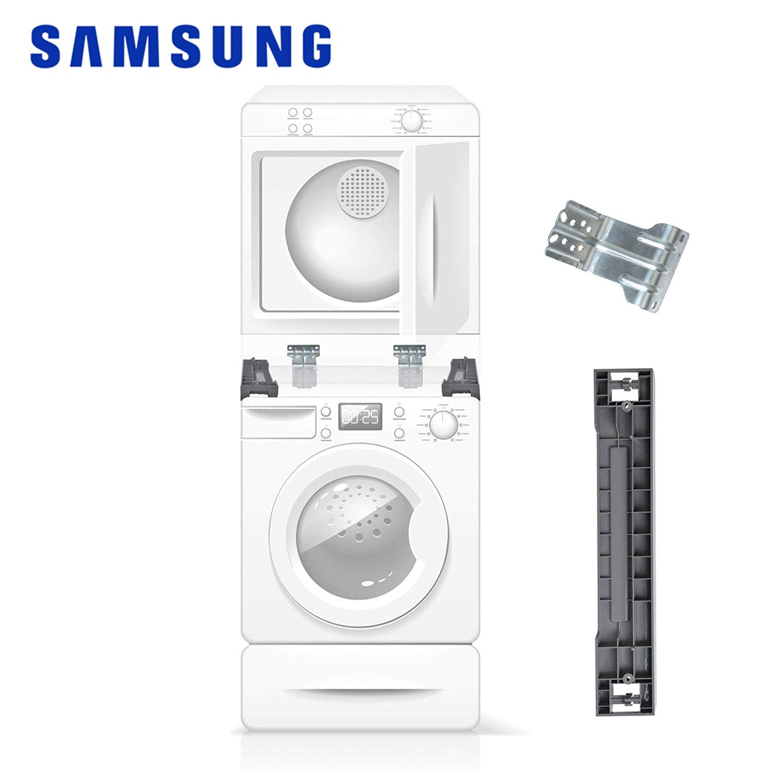 CalPalmy Stacking Kit for Samsung Washer & Dryer - 27'' Front Load Laundry SKK-7A, SK-5A, SK-5AXAA by CalPalmy