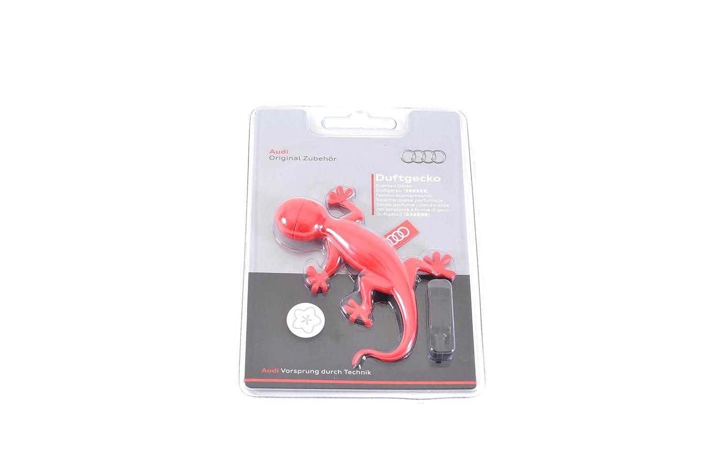 Audi 000087009B Diffuseur de parfum en forme de gecko Parfum floral Rouge
