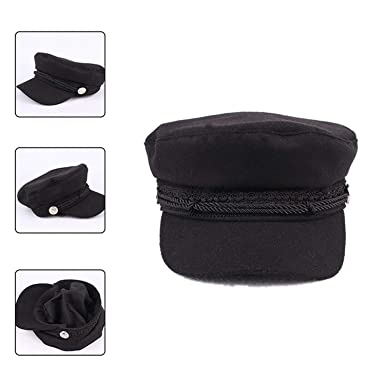 Winter Vintage Hats Women Military Gorras Planas Snapback Caps Casquette Wool Button Beret Sun Octagonal, Black at Amazon Womens Clothing store: