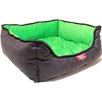 Petstyle Cama para Perro, Vox, Suave y Cómoda para un Descanso Ideal para tu Mascota (Chica, Verde)