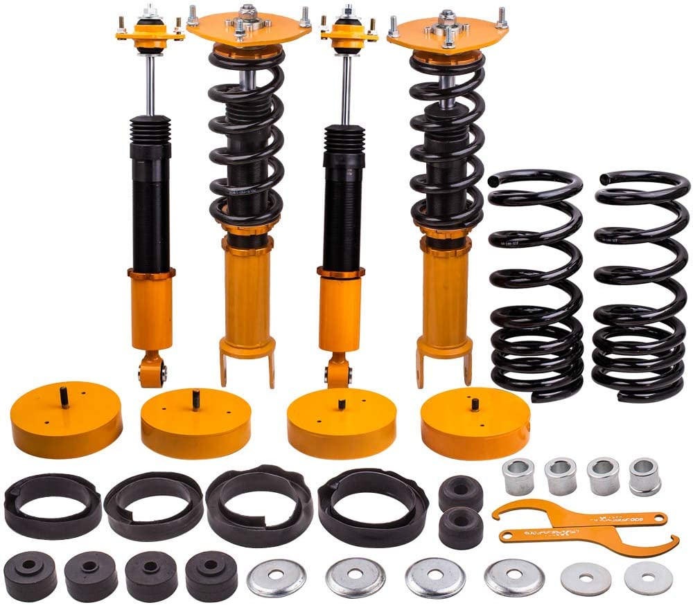 maXpeedingrods 4PCS Air to Coil Springs Conversion Struts for Lincoln Mark VIII 1993-1998 Shock Absorber Adjustable height