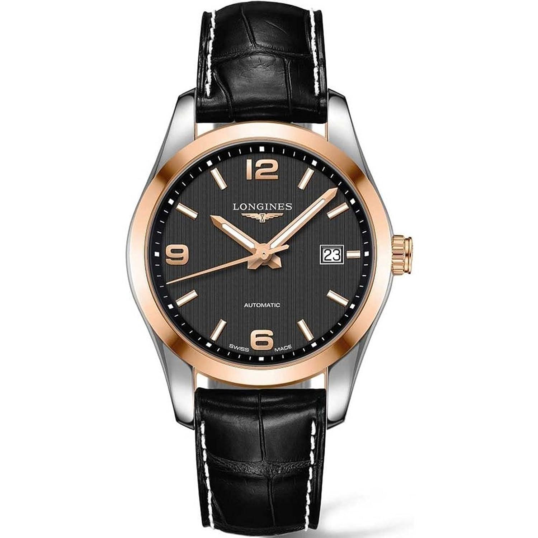 ロンジンConquest Classic Automatic 40 mmメンズ18 Kゴールド腕時計l2.785.5.56.3 B01DFL3NUO
