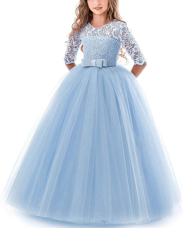 NNJXD NNJXD Mädchen Festzug Stickerei Prom Kleider Prinzessin