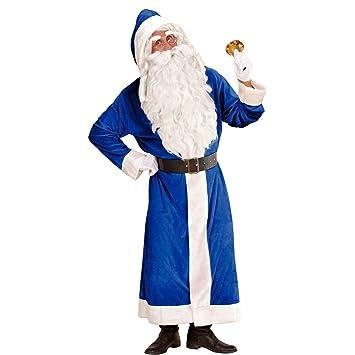 NET TOYS Disfraz de Papá Noel Azul - XL | Traje de Santa ...