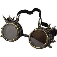eMarto Gothic Glasses Vintage Steampunk Goggles -Bronze