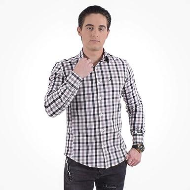 7690070f9e Camisa Xadrez Masculina Slim Social 200111  Amazon.com.br  Amazon Moda