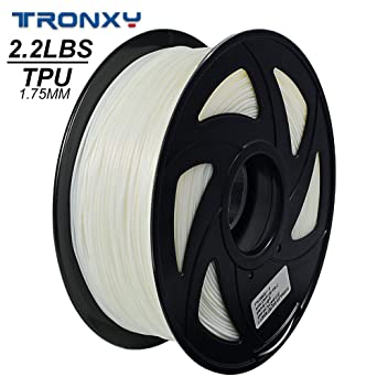 3D flexible blanco TPU filamento 1,75 mm, 1 kg (2,2 lbs) Material ...