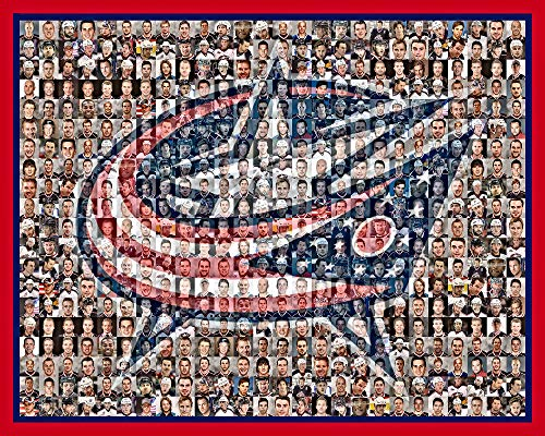 - NHL Columbus Blue Jackets Photo Mosaic Print Art Designed Using 50 of the Greatest Blue Jackets Players of All Time. 8x10
