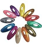 (Multicolored) - Ababalaya Multi-coloured Hijab Pins (Set of 12) (Multicoloured)