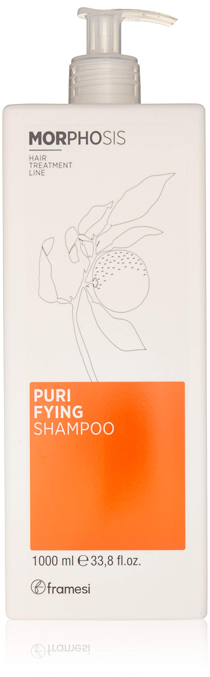 Framesi Morphosis Purifying Shampoo - 33.8 Ounce - Scalp Treatment, Color Safe and Anti Dandruff Shampoo, Vegan, Gluten Free, Cruelty Free by framesi
