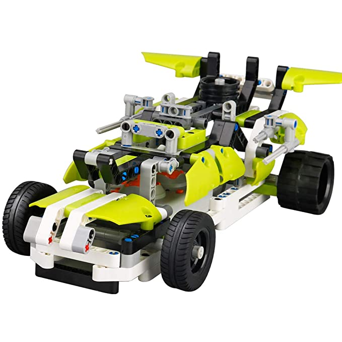 ASD Coche de Control Remoto,Buggy Bloques de Construcción DIY Teledirigido Coche Set Kit 2.4GHz RC Coche Modelo Vehículo DIY Racing Juguete Coche RC Niños ...