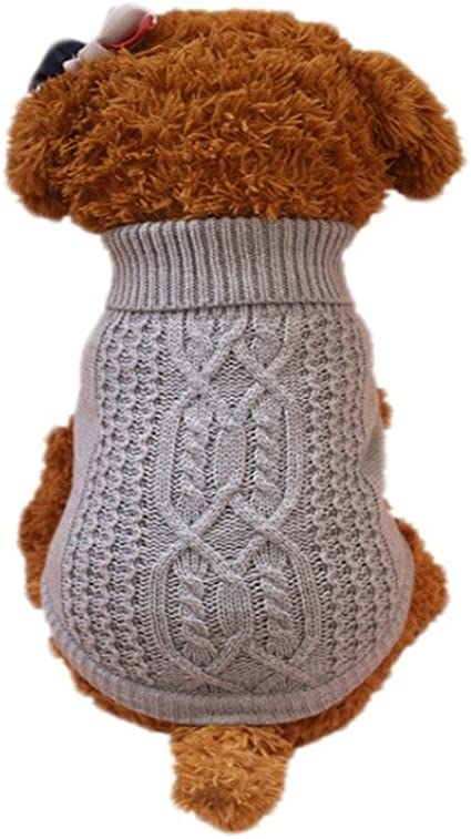 Imagen deRETUROM Ropa para Mascotas Suéter cálido de Moda para Perros pequeños