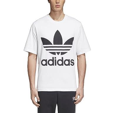 famous brand best choice super quality adidas Men's Trefoil Oversized T Shirt (2XS, White/Black) at ...