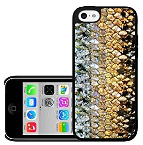 Golden Teal Fish Scales Hard Snap on Phone Case (iPhone 5c)