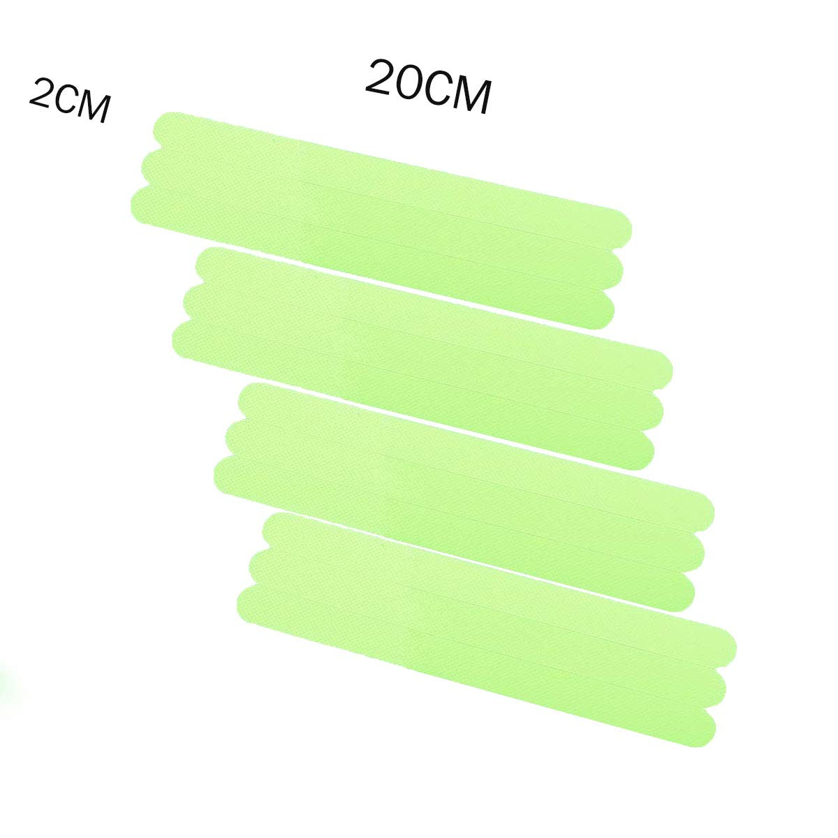 Anti-Slip Stickers Luminous Non-Slip Safety Strips Bathtubs Floor Treads,Glow in The Dark Tape 24 pcs Adhesive Shower Slip Strip for Bath,Boats,Stairs,Swimming Pools,Health Clubs