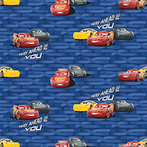 Disney Cars Cotton Fabric - Disney Fabric Cars McQueen and Cruz by The Yard