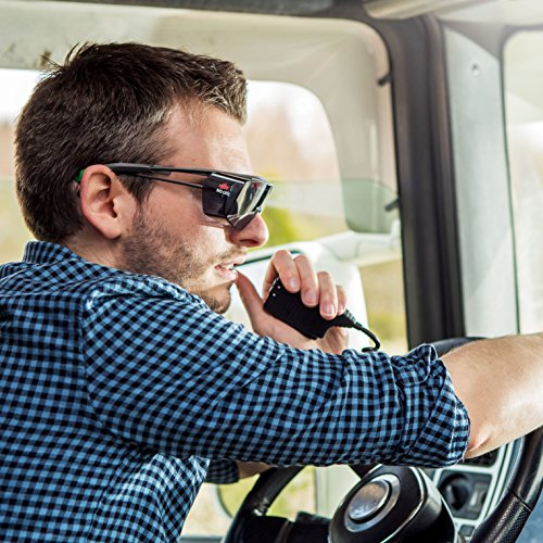 NoCry Tinted Over-Spec Safety Glasses - with Anti-Scratch Wraparound Lenses, Adjustable Arms, and UV400 Protection. ANSI Z87.1 & OSHA Certified by NoCry (Image #4)