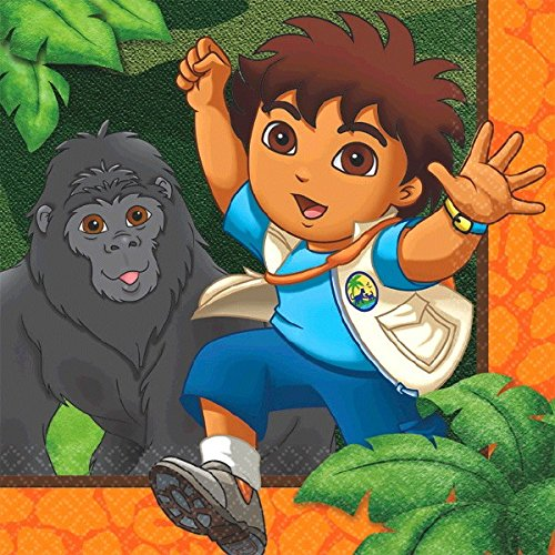 Go Diego Go Rescue Pack - Diego's Biggest Rescue Beverage Napkins, Party Favor