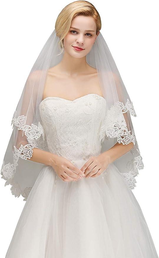 Semi laced edge barely there wedding veil \u2022 Minimal wedding veil \u2022 Lightweight wedding veil \u2022 Sheer wedding veil