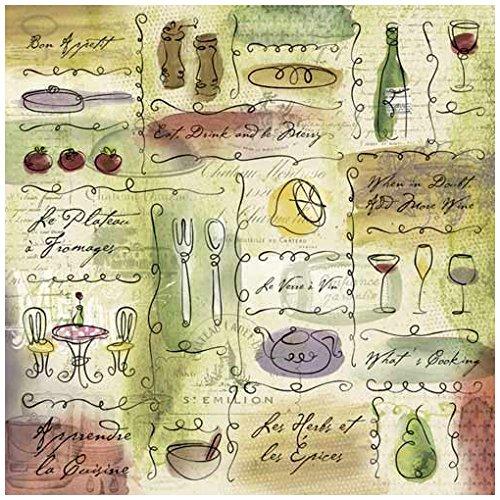 Vineyard Photo Albums - KAREN FOSTER Design Scrapbooking Paper, 25 Sheets, Bon Appetit Collage, 12 x 12